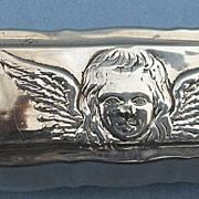 Silver Trinket Box, Edwardian, Reynolds' Angel