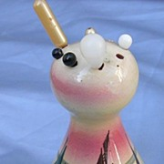 Torquay Mottoware Devon Pottery, Hat Pin Holder With Pins