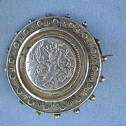 Silver Brooch, Hair Locket, Victorian