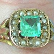 Paste and Pearl Ring, Victorian