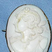 Angelskin Coral Cameo Brooch, 9 ct, Victorian