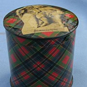 Tartan  Rolled Tape Box, Victorian