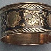 Napkin Ring, Silver, Niello