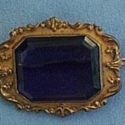 REDUCED Victorian Amethyst Brooch, Metal