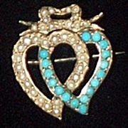 Witch's Heart, Double, Turquoise and Pearl, 1850