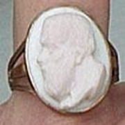 REDUCED Angelskin Coral Cameo Ring, Victorian