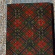Tartan, Mauchlineware, Cribbage Game/Victorian