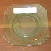 Decagon Blank, Green, Cambridge Glass, saucer