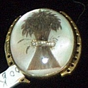 Early Victorian, Gold Mourning,  Memorial Clasp, Sheaf of Wheat