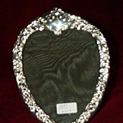 Silver (Sterling) Heart Shaped Victorian Frame