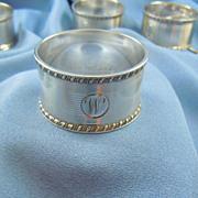 Sterling napkin rings Sheffield hallmarked Poston Products Ltd (6)