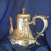 Victorian Coffee server silver plated Elkington & Co