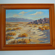 Carl G. Bray desert mountain landscape oil painting