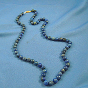 Natural lapis lazuli 8mm bead necklace