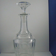 Cut glass wine decanter with stopper