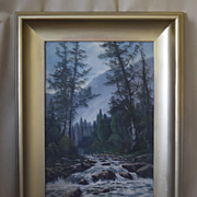 J. Englehart early California Tahoe landscape oil painting