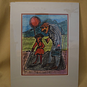 "Mark luca California artist ""if you let the balloon go, you won't get another one"""