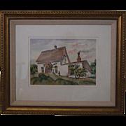 Wm Cameron watercolor landscape mendocino California