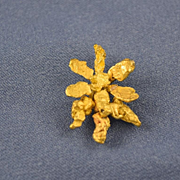 Gold nugget pendant