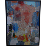 Abstract oil painting La Chapelle California artist