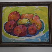 California artist Andre Boratko Still Life of Fruit oil painting