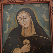 Santos St Catherine South american religious painting