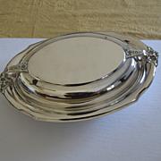 Covered vegetable server Holmes & Edwards silver plate