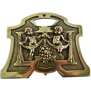 Brass book ends expands & contracts Art nouveau style