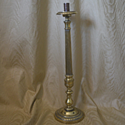 Brass altar candle tall