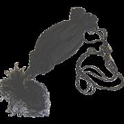 Black silk tassel Venetian evening bag