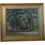 Landscape oil painting Colin Campbell cooper