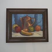Still life oil painting with Copper pot Paul Schmitt