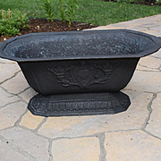 Victorian cast iron oblong garden planter