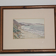 Marin County Beach watercolor by Cameron