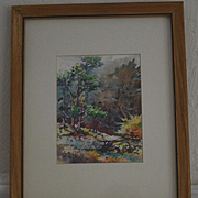 Autumn Landscape watercolor painting by J. V. Scurr