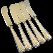 Webster sterling silver handle butter 5 knives