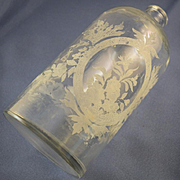 Victorian bath salt bottle large & etched design