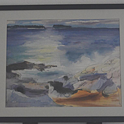 Jason Schoener water color seascape