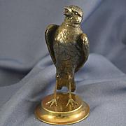 Bronze figure of bird standing