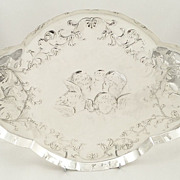 SOLD Antique Sterling Silver 'Choir of Angels' Tray - 1909 - Bechtler of Allahabad