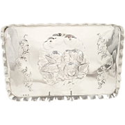 SOLD Antique Edwardian Sterling Silver Tray - 1910 - Angels