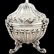 Antique Victorian Sterling Silver String Box / Holder 1889 William Comyns