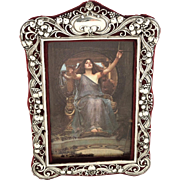 Antqiue Art Nouveau Sterling Silver Photo Frame 1901