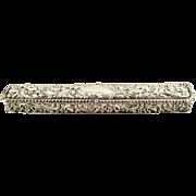 "SOLD Antique Edwardian Sterling Silver 9"" Trinket Box 1905"