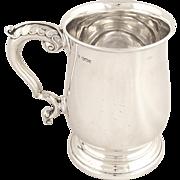 Antique Hallmarked Solid Sterling Silver Pint Mug/Tankard 1947