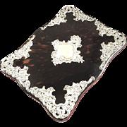 Antique Tortoiseshell & Sterling Silver Desk Top Blotter Pad / Book - 1905 - William Comyns