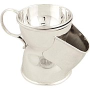 Antique Victorian Sterling Silver Shaving Mug / Cup / Scuttle - 1892