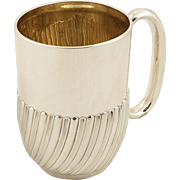 Antique Vicotrian Sterling Silver Pint Mug / Tankard 1902