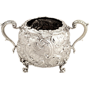 Chunky Antique Georgian Solid Sterling Silver Bowl 1818