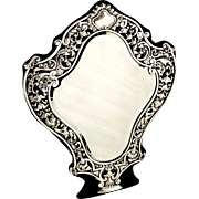 Antique Victorian Sterling Silver Dressing Table Mirror 1898